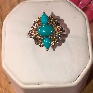 🎉Sleeping BEAUTY Turquoise Sterling Silver Ring